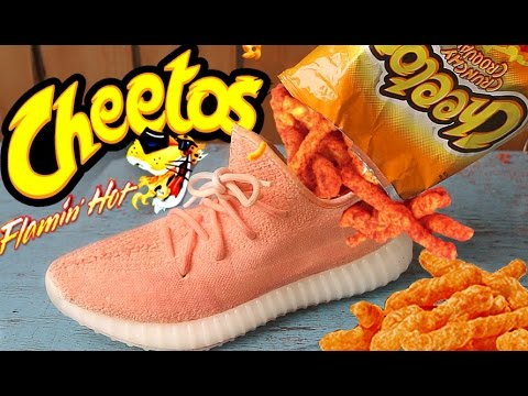 MAKING THE FLAMING HOT CHEETOS ADIDAS YEEZY V2 BOOST!!! - YouTube eb3d4aa16