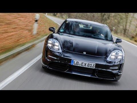 Walter Rohrl tests the Porsche Taycan EV