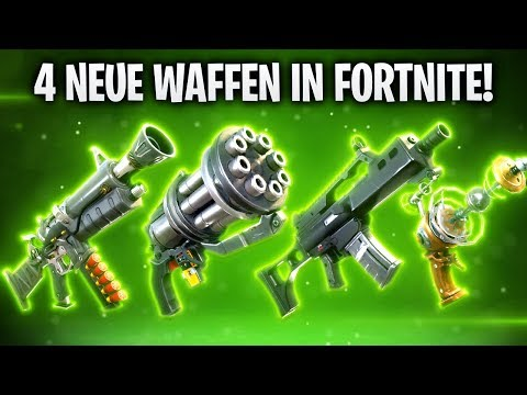 4 NEUE WAFFEN IN FORTNITE! 🔫 | Fortnite: Battle Royale