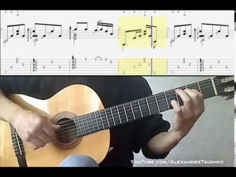 Красивая мелодия на гитаре - Уроки игры на гитаре по скайпу