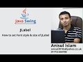 Java Swing Bangla Tutorial 14 : How to set Font style & size of JLabel