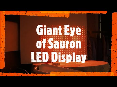 Eye of Sauron LED Display - WS2812B Neopixel RGB LED Matrix +