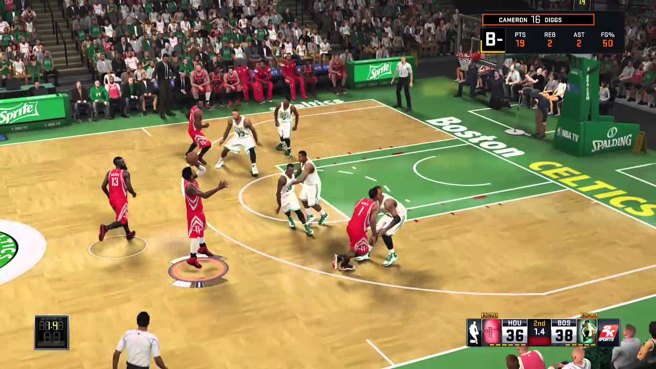 Kevin Duckworth Left handed buzzer beater in Mycareer by Cdiggs