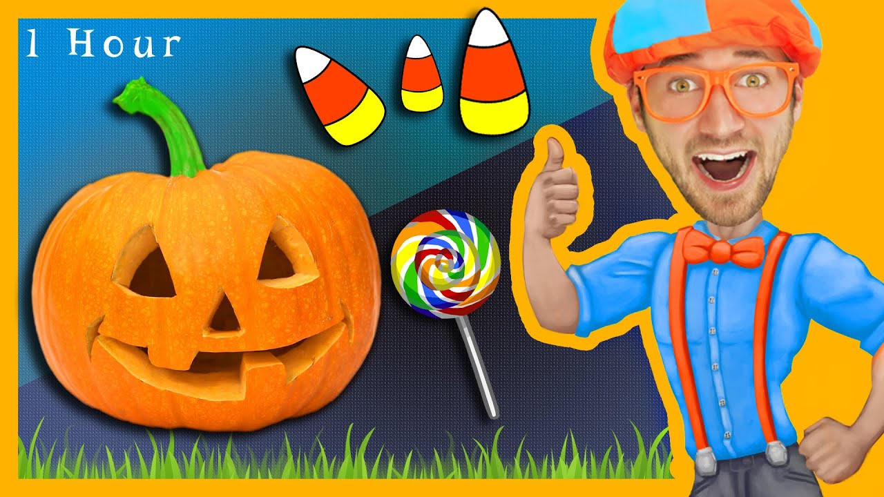 1 hour of nursery rhymes compilation with blippi halloween songs for kids and more youtube - Halloween Youtube Kids