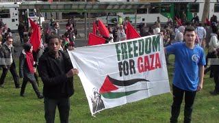 Rally Against Israeli Bombing of Gaza -  12th July 2014 - Melbourne, Australia