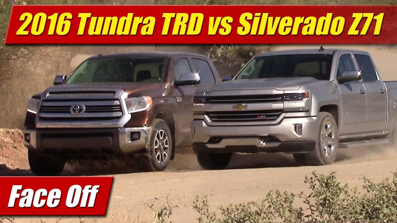 maxresdefault face off 2016 toyota tundra trd vs chevrolet silverado z71 youtube