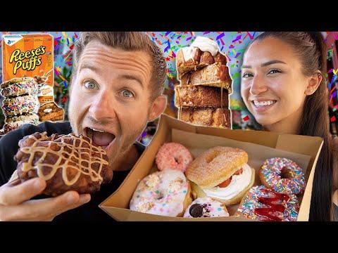 We Ate EVERYTHING We Wanted On Erik's BIRTHDAY!