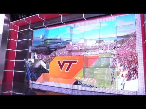 Virginia Tech Coach Frank Beamer Visits ESPN