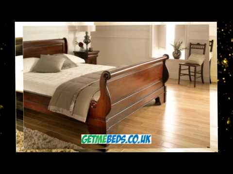 Toulouse Mahogany Bed - Wooden Sleigh Style Frame