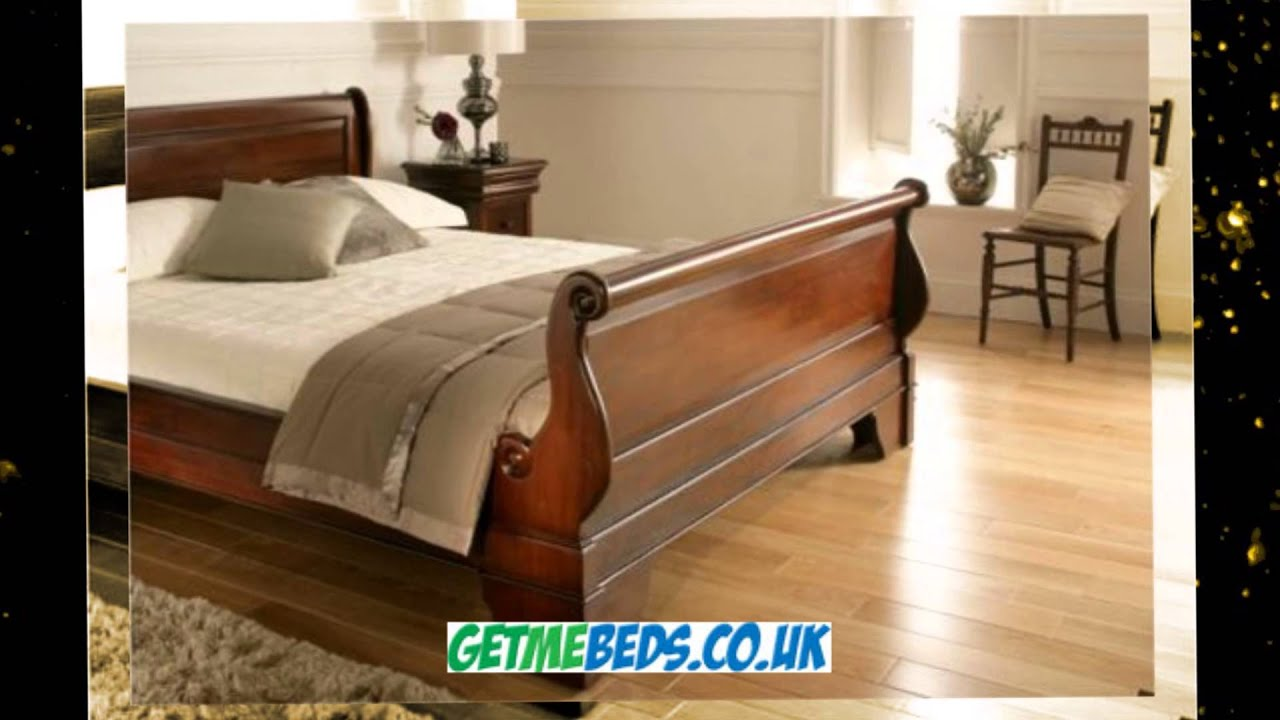 toulouse mahogany bed wooden sleigh style frame - Mahogany Bed Frame