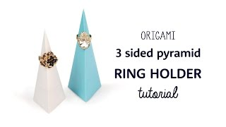 Origami Pyramid Ring Holder / Stand