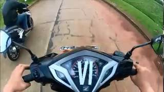Honda Vario 125 PGM FI Vs. Yamaha Xeon RC (drag race standart)