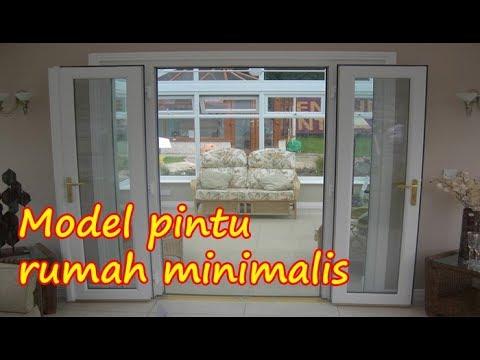 Model Pintu Rumah Minimalis Modern 2 Daun Pintu Besar Dan Kecil