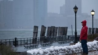Hurricane Sandy: the view from Battery Park in New York