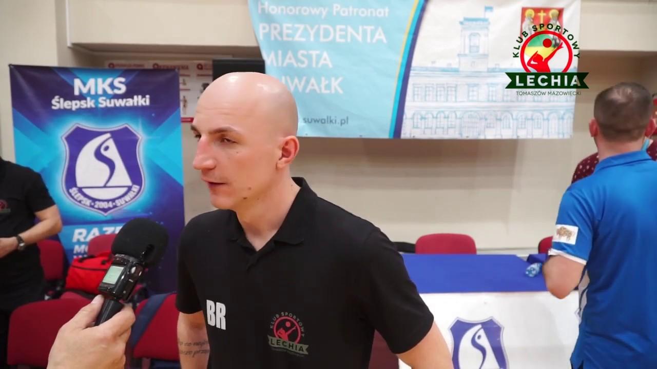 Trener Bartłomiej Rebzda po meczu nr 4 w Suwałkach