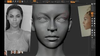 Realistic Female Face Likeness Sculpting in Zbrush