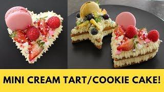 2018 Trend! Mini Cream Tart!   Cookie Cake