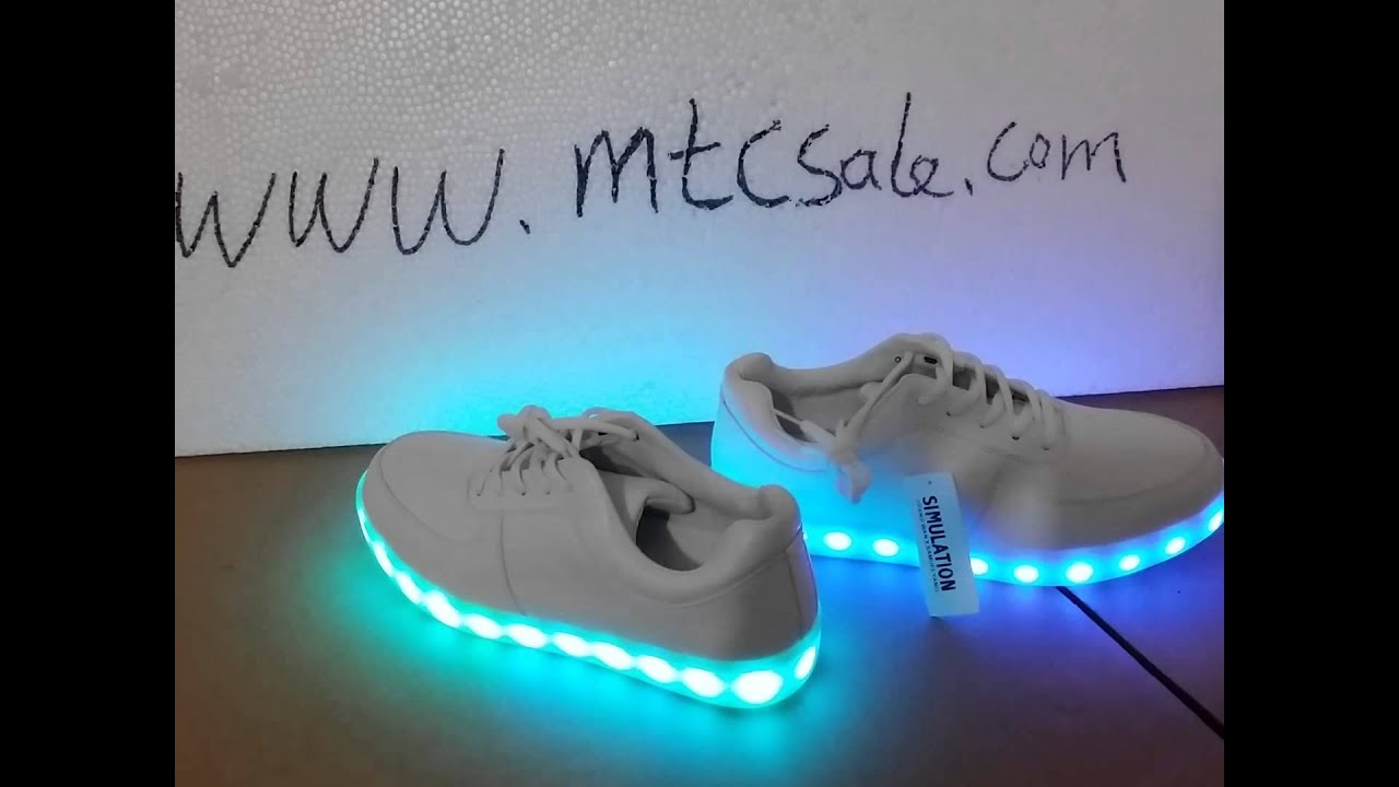 Great Colorful LED LIGHT UP Sneaker Shoes  The Latest Update Version   YouTube Idea