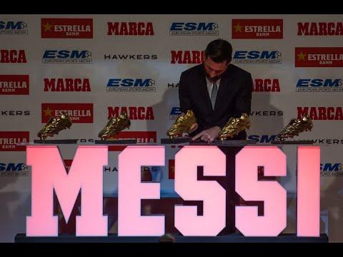ميسي يتسلم جائزة الحذاء الذهبي الخامسة  - نشر قبل 6 ساعة
