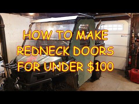 How to make redneck UTV doors for under $100