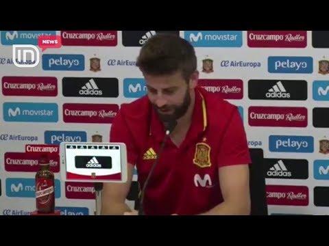 Përballja Spanjë-Shqipëri, Pique qesh, kur përmend emrin e skuadrës tonë