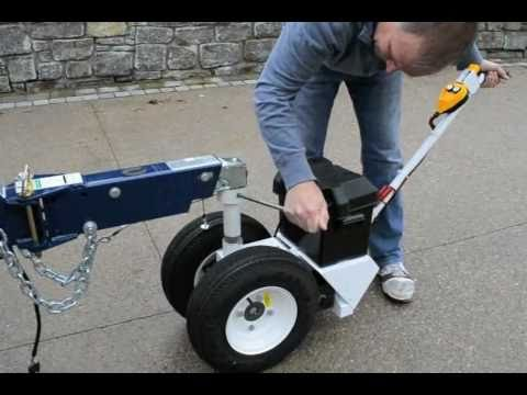 Electric Trailer Dolly >> Parkit360 Attach Your Power Trailer Dolly To A Sea Ray Yatch