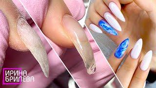 ВЫРАВНИВАНИЕ клюющего ногтя Маникюр для начинающих ДЛИННЫЕ ногти Ирина Брилёва