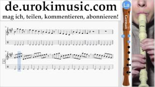 Blockflötenunterricht G. Mo-Torres, Cat Ballou & Lukas Podolski - Liebe deine Stadt Noten Lernen