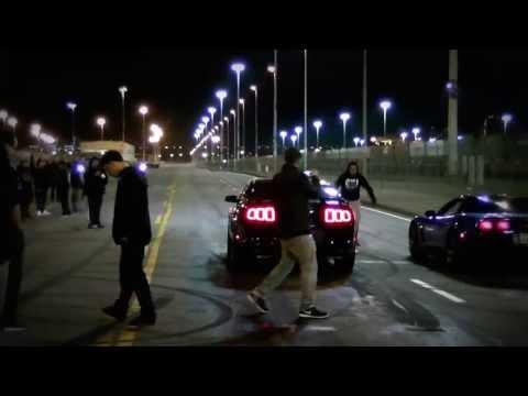 2013 Ford Mustang 5.0 vs C5 Corvette Bad Wheel Hop