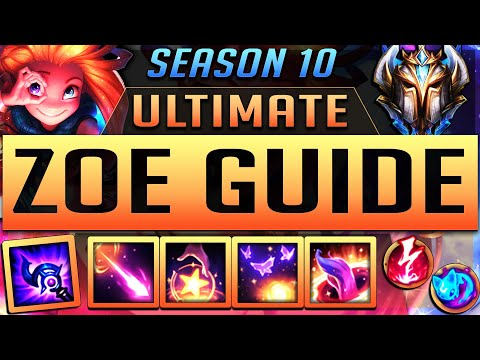 ZOE GUIDE SEASON 10 (2020) ULTIMATE GUIDE [BEST RUNES, ITEMS, GAMEPLAY, COMBOS, MATCHUPS ] | Zoose
