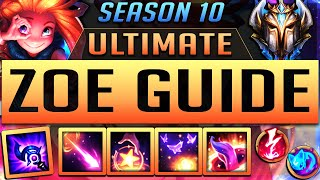 ZOE GUIDE SEASON 9 (2019) ULTIMATE GUIDE [BEST RUNES, ITEMS, GAMEPLAY, COMBOS, MATCHUPS ] | Zoose