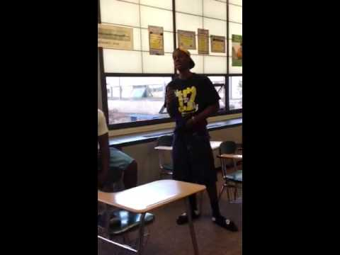 Dude gets slapped in class for throwing up gang signs