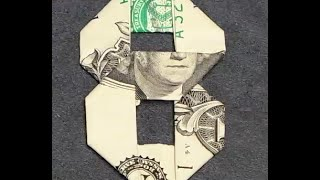 Video Fold Origami Dollar Bill Number 8 download MP3, 3GP, MP4, WEBM, AVI, FLV Desember 2017