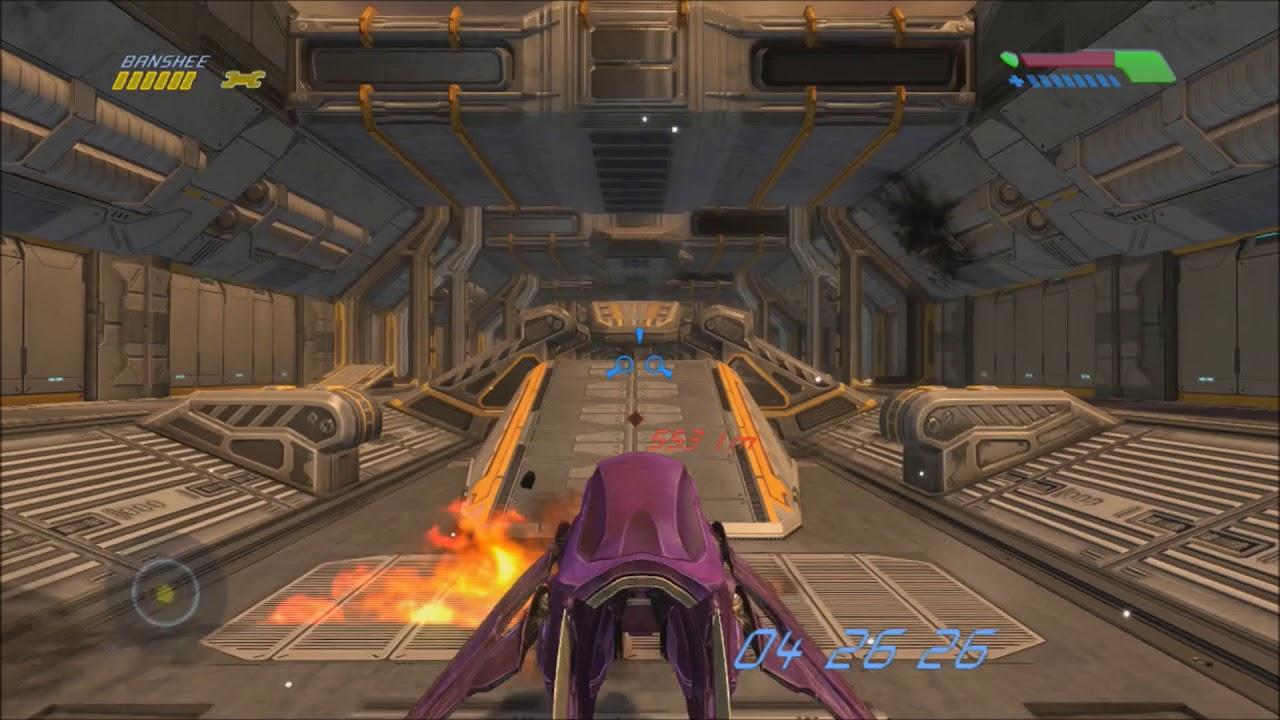 Halo 1 - Warthog Run With A Banshee (MOD)