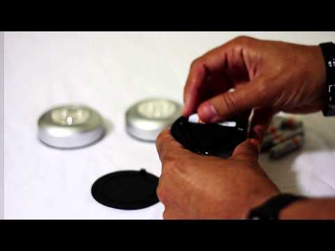 Fulcrum 30010-301 Led Stick-On Tap Light & AmazonBasics Batteries