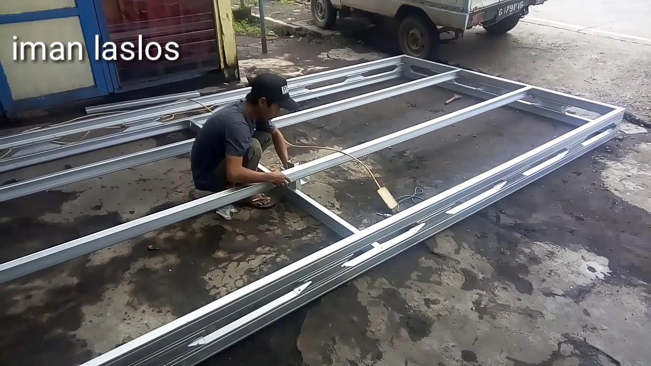 langkah membuat kanopi baja ringan pasang bajaringan paling mudah youtube