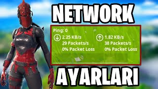 0 HOW TO SET NETWORK SETTINGS TO PLAY PING ?! (Fortnite Turkish)