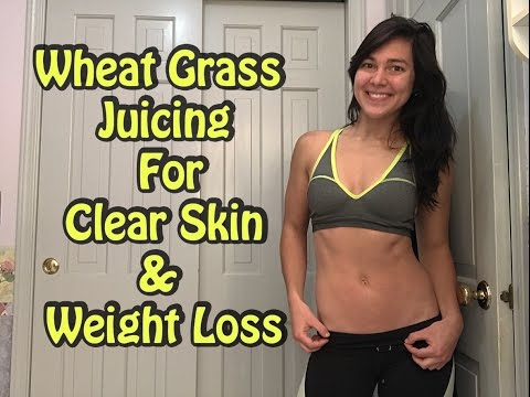 Wheat Grass Juicing For Clear Skin & Weight Loss