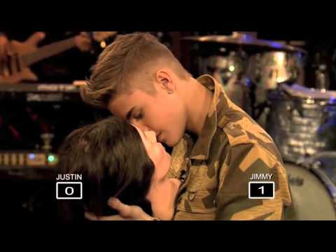 Justin Bieber Kissing A Mannequin On Late Night With Jimmy Fallon