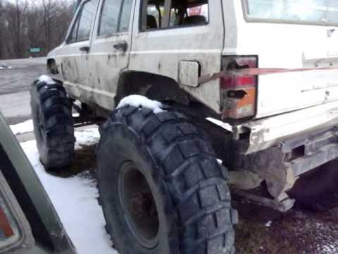 Jeep On 54 Inch Military Tires Youtube