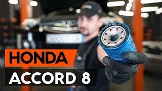 Montaje Filtro de aceite motor HONDA ACCORD: vídeo manual