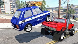 Crazy Police Chases #24 - BeamNG Drive Crashes