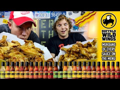 Mukbang Monday: Eating Every Buffalo Wild Wings Sauce