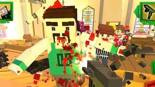 ЗОМБИ Нападение как МАЙНКРАФТ 6 Симулятор Выживания с Пиксельными зомби
