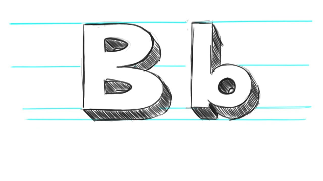 How To Draw 3d Letters B Uppercase B And Lowercase B In 90 Seconds
