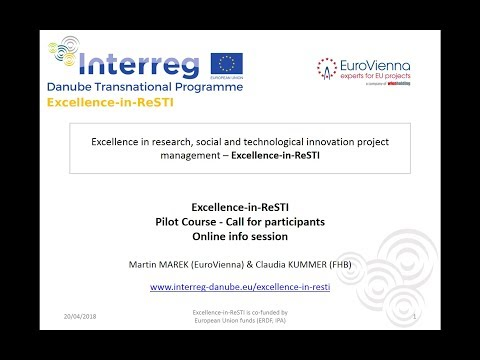 Excellence in ReSTI - Pilot Course - Call for participants - Online info session