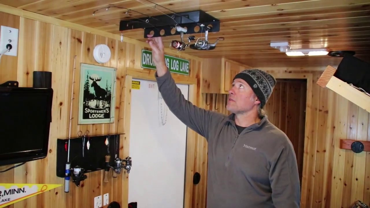 A Rod Rack That Actually Made For Ice Fishing Rods Youtube
