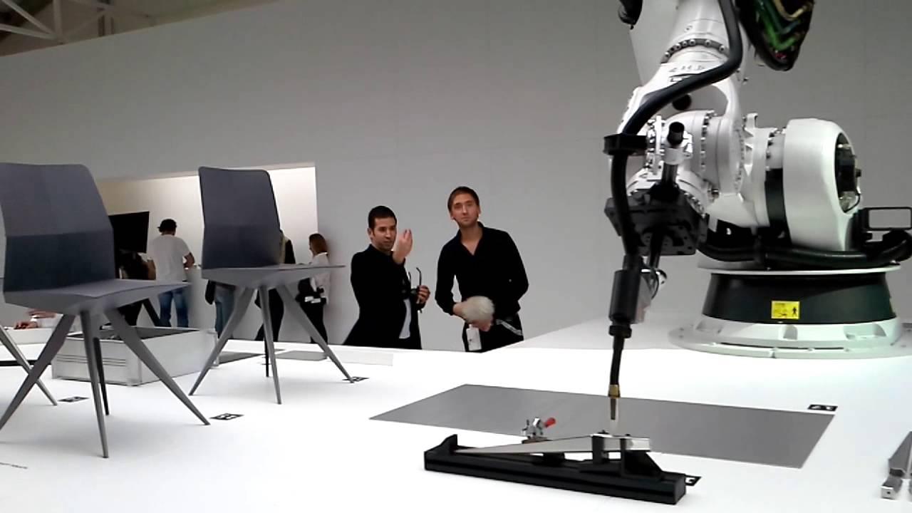 Audi arm Carbon Fiber Robot at Art Basel Miami - YouTube