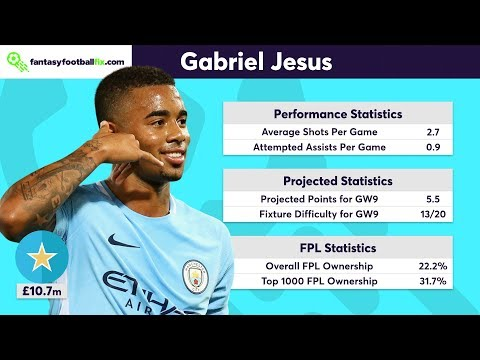 Gameweek 9 | Top 5 Fix Player Picks | Fantasy Premier League 2017/18