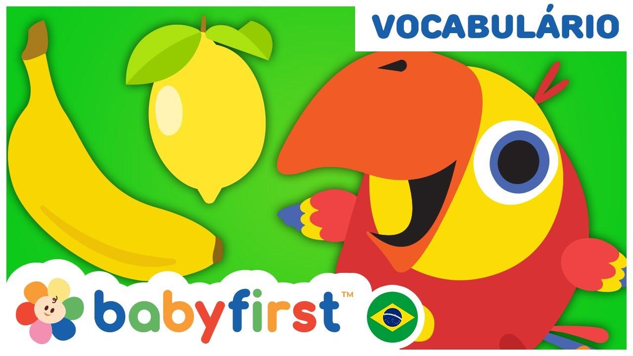 Desenhos Educativos em Português   Ovo surpresa com frutas e legumes para crianças  BabyFirst Brasil